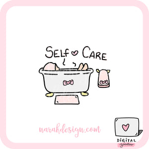 Self Care Illustration Digital Clipart