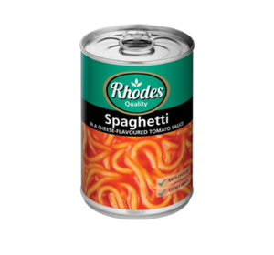 Spaghetti in Cheese Flavoured Tomato Sauce - Rhodes - 410g
