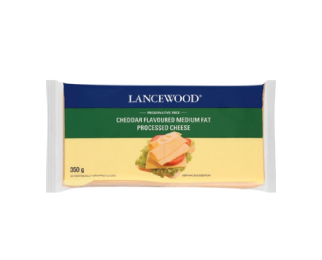 Cheddar Flavoured Full Cream Processed Cheese Slices - Lancewood - 350g