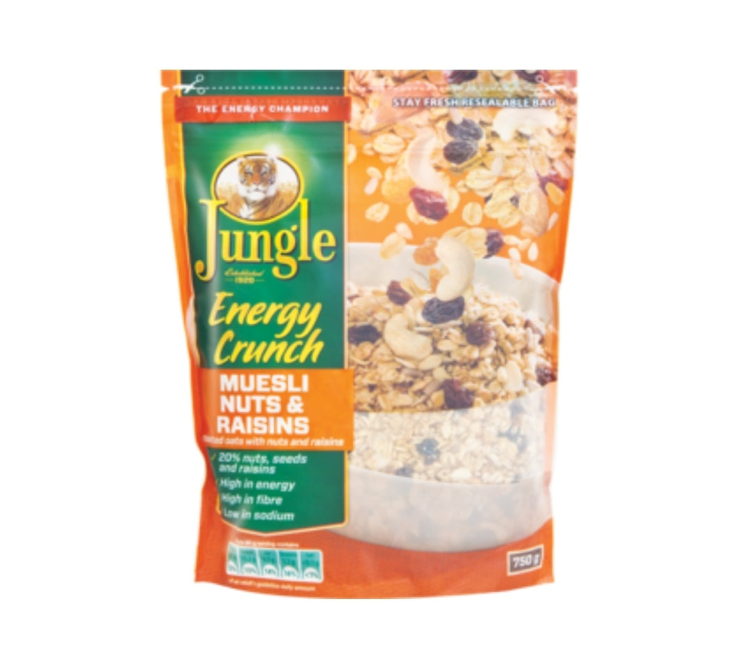 Jungle Energy Crush Nuts & Raisins Muesli - 750g