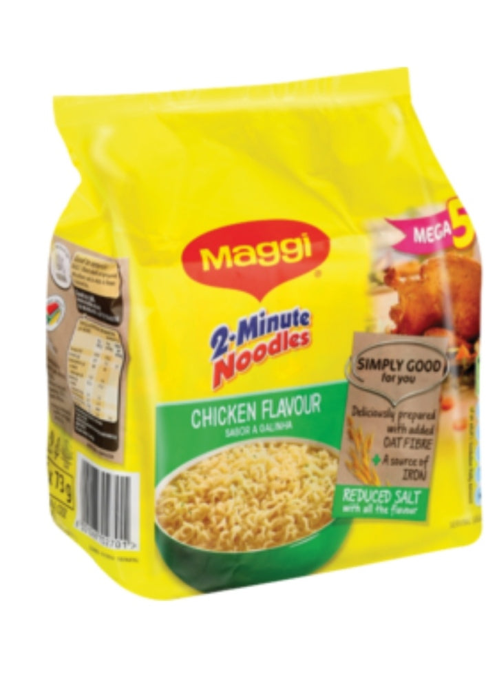 2 Minute Noodles Pack - Chicken - Maggi - 5 x 73g