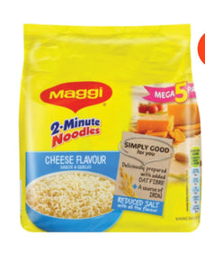 2 Minute Noodles Pack - Cheese - Maggi - 5 x 73g