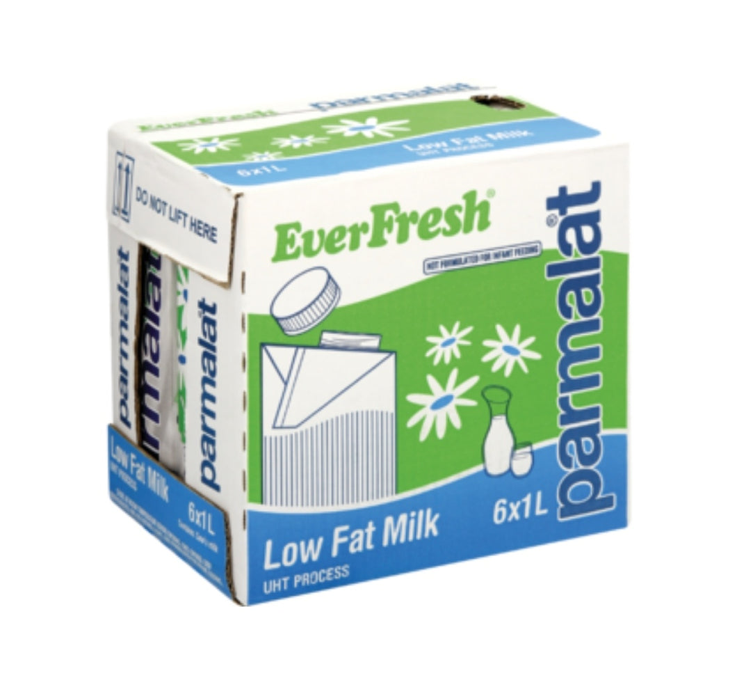 Low Fat Milk UHT - Parmalat - 6 x 1L