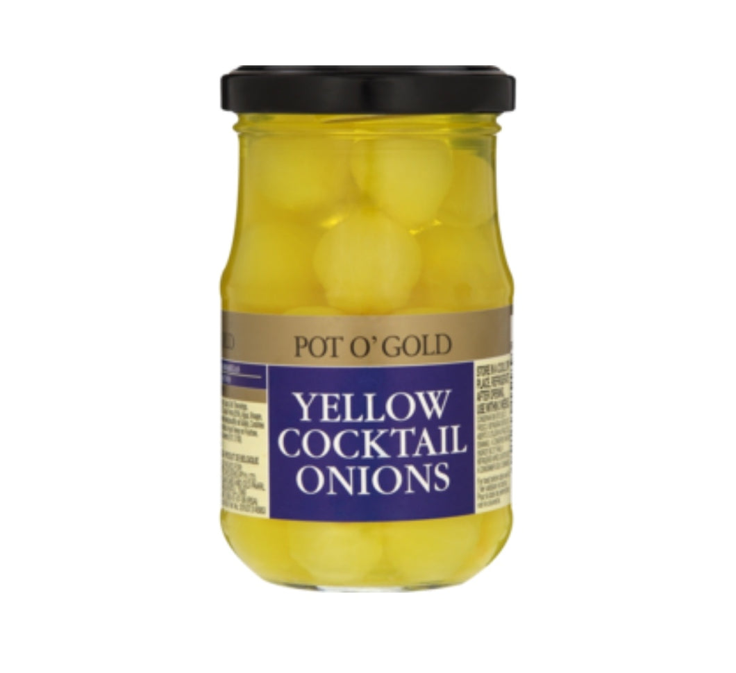 Pickled Yellow Cocktail Onions - Pot O' Gold - 200g