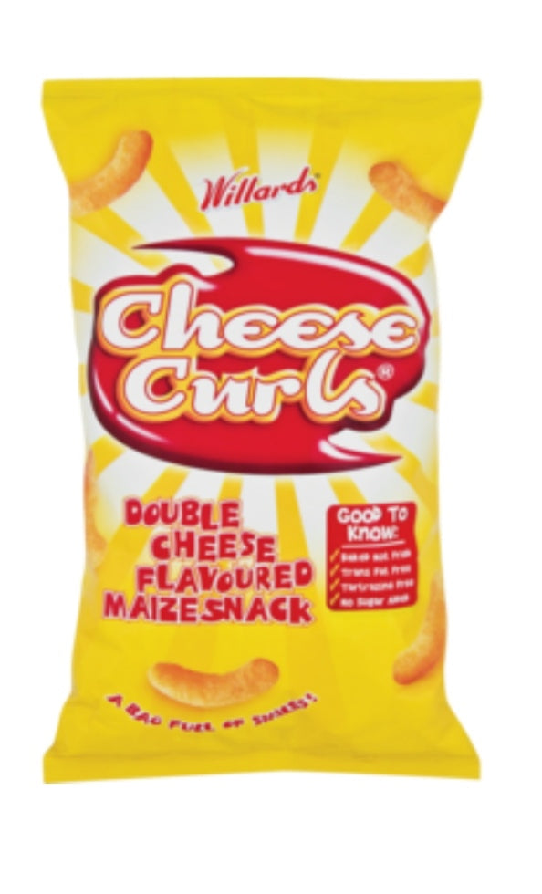 Cheese Curls - Willards - 150g