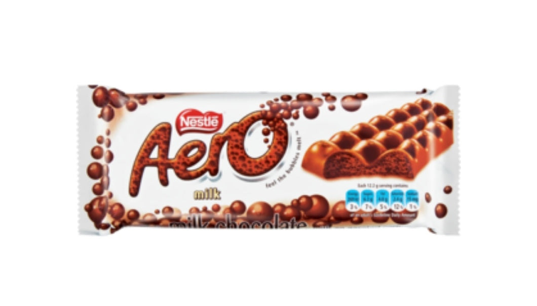 Aero Milk Chocolate - Nestle' - 85g