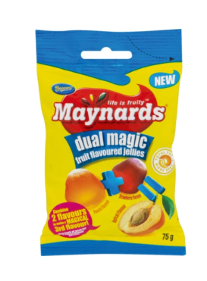 Dual Magic Fruit Jellies - Maynards - 75g