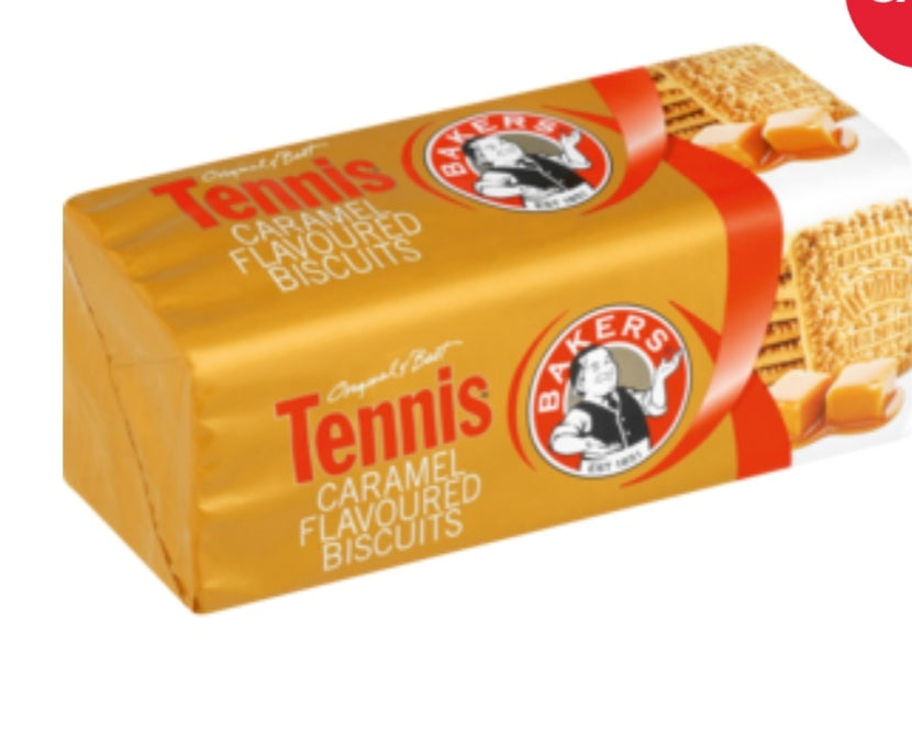 Red Label Caramel Tennis Biscuits - Bakers - 200g