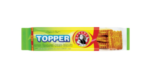 Topper Lemon Biscuits - Bakers - 125g
