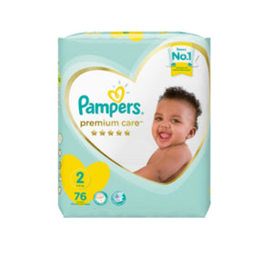 Pampers Premium Care Size 2 Diapers - 76 Pack