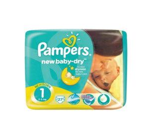 Pampers New Baby Dry Size 1 Nappies - 27 Pack