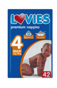 Lovies Maxi Diapers - 42 Pack