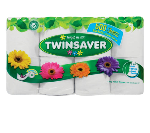 1 Ply Toilet Rolls - Twin Saver