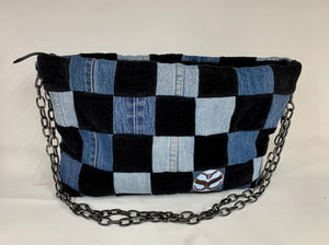 Checkerboard clutch/ Black