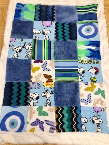 Snoopy Patchwork Baby Blanket