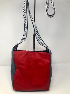 Red Mini Leather & McQueen Messenger