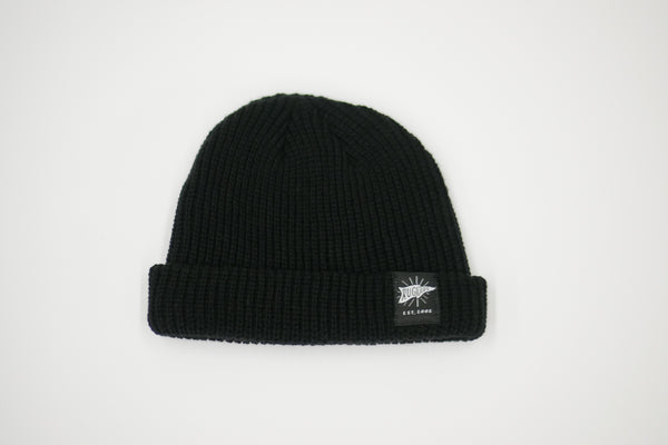 Black Knitted Flag Beanie