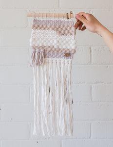 "Weavings Natural Tones ""Patsy"" - Blanc Laine"