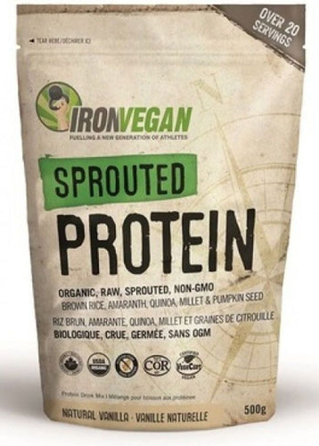 IRON VEGAN Sprouted Protein (Vanilla - 500 gr)