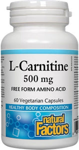 NATURAL FACTORS L-Carnitine (500 mg - 60 vcaps)