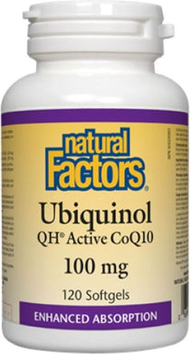 NATURAL FACTORS Ubiquinol CoQ10  (100 mg - 120 Sgels)