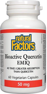 NATURAL FACTORS Bioactive Quercetin EMIQ ( 50mg - 60 Veg Caps )