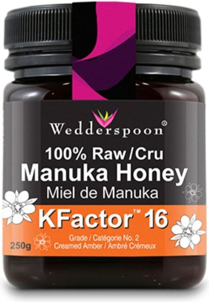 WEDDERSPOON 100% Raw Manuka Honey (Kfactor 16 - 250 Gr)