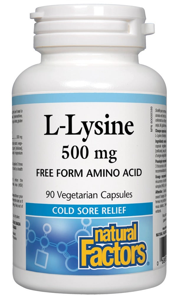 NATURAL FACTORS L-Lysine ( 500mg - 90 Caps )