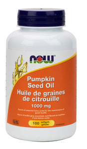 NOW Pumpkin Oil (1000 mg - 100 Sgels)