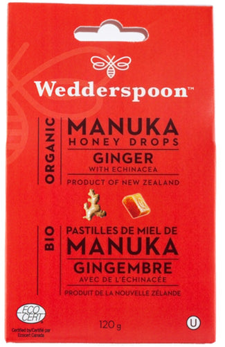 WEDDERSPOON Organic Manuka Honey Drops (Ginger - 120 Gr)