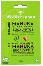 Load image into Gallery viewer, WEDDERSPOON Organic Manuka Honey Drops (Eucalyptus - 120 Gr)
