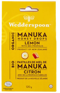 WEDDERSPOON Organic Manuka Honey Drops (Lemon - 120 Gr)