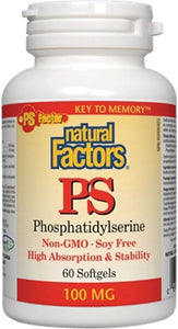 NATURAL FACTORS PS  (100 mg - 60 sgels)