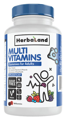 HERBALAND Multi Vitamins for Adults (Berry - 90 Gummies)