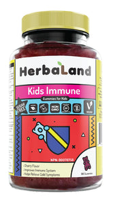 HERBALAND Kids Immune (Cherry - 90 Gummies)