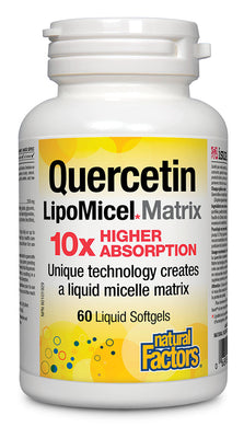 NATURAL FACTORS Quercetin Lipomicel Matrix (60 sgels)