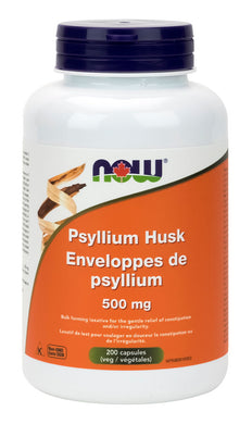 NOW Psyllium Husk (500 mg - 200 caps)