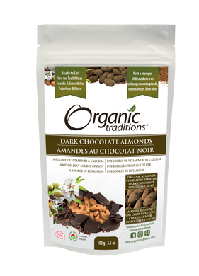 Organic Traditions Dark Chocolate Covered Almonds