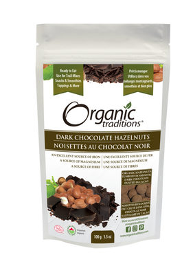 Organic Traditions Dark Chocolate Covered Hazelnuts