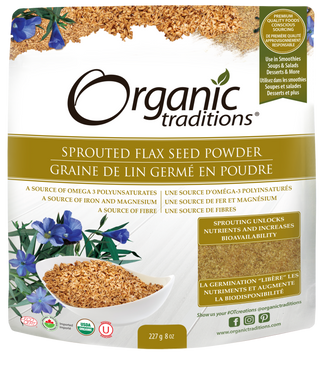Organic Traditions Sprouted Ground Flax Powder