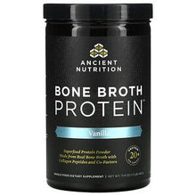 Load image into Gallery viewer, Ancient Nutrition Vanilla Bone Broth Protein Powder 321g