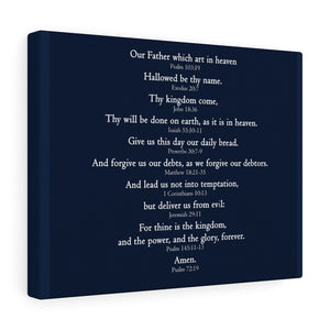 The Lord's Prayer - Canvas Gallery Wrap