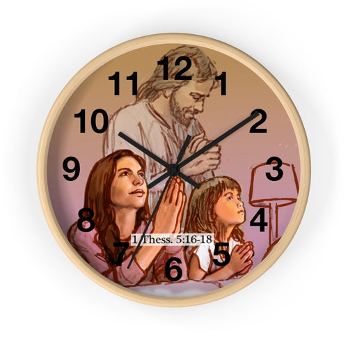 Pray - Wall clock