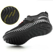 Men steel toe mesh safety shoes anti-smashing anti-piercing
