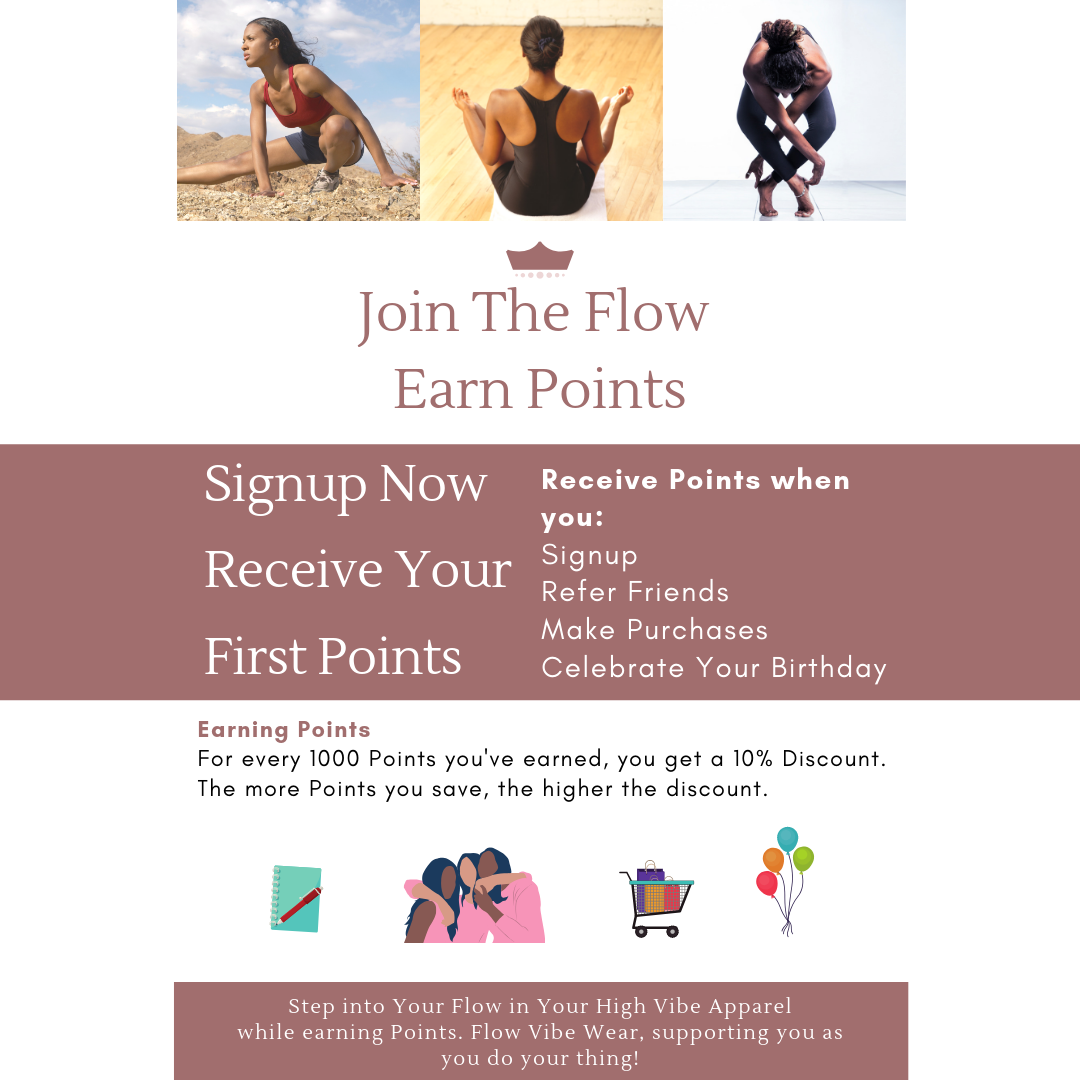 Earn Points for future purchases of Leggings and Yoga Fitness Wear