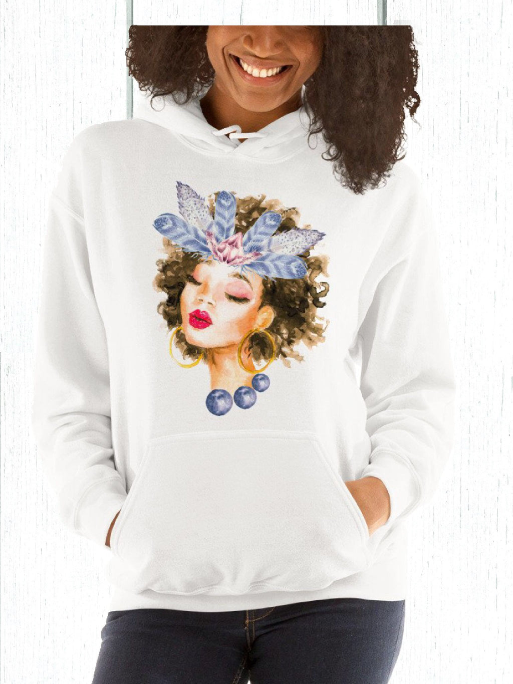 Black Woman Meditation Sweatshirt - Flow Vibe Wear