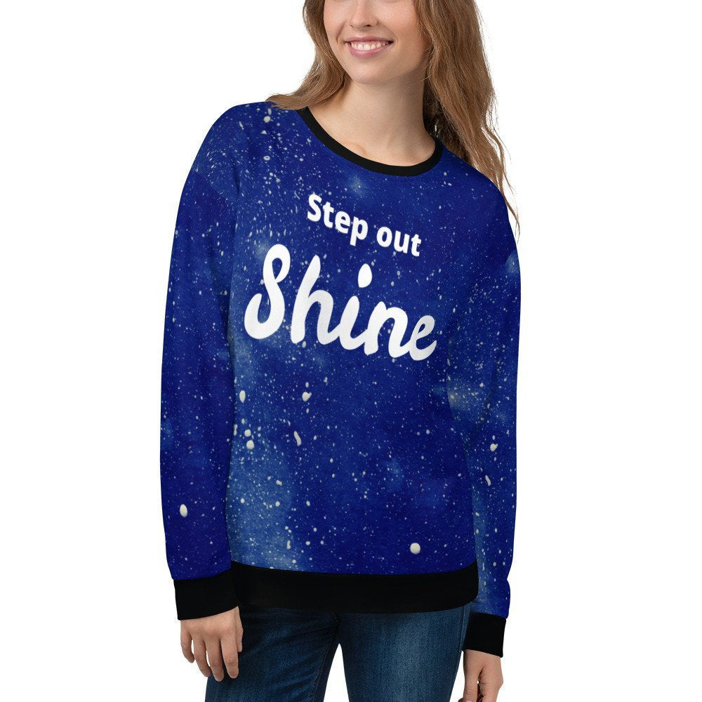 Galaxy Sweatshirt, Unisex Sweatshirt, Starry Night Sweatshirt - Flow Vibe Wear