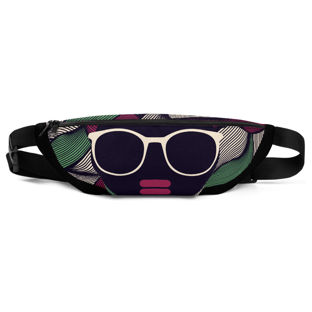 Afro Hair Fanny Pack, Afro Belt Bag - Flow Vibe Wear