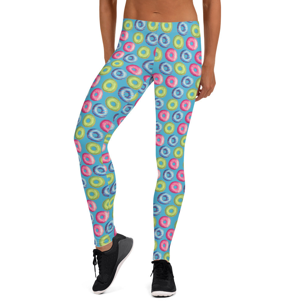 Colorful Donuts Leggings - Flow Vibe Wear