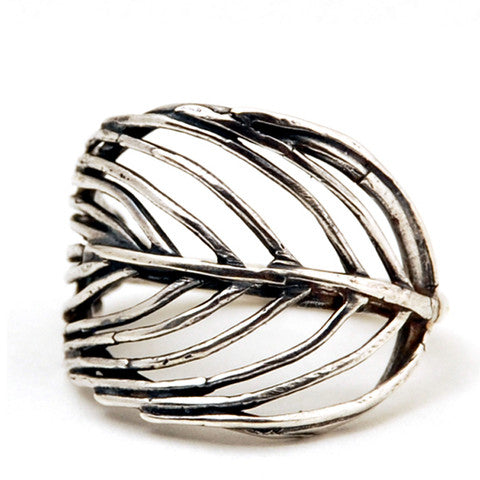 Silver Feather Ring - The Whole 9 Gallery